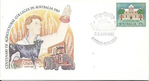 1983-Ag-Quip-Special-Postmark-Gunnedah-NSW-25-Aug-Pictor-Marks-No-PM-1062-1