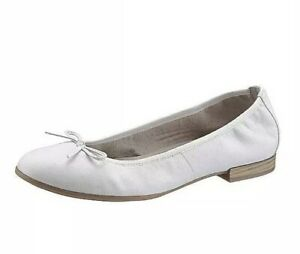 Details about Tamaris Women's Ballerina Shoes White Size EU 39