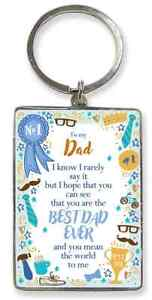 Best Dad Ever Key Ring. Gift For Dad. Fathers Day, Christmas, Birthday
