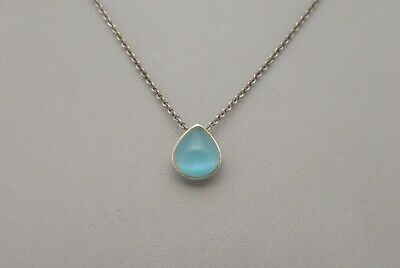Cats Eye /& Sterling Silver Pendant Necklace