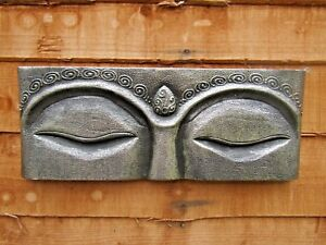 Details About Fair Trade Hand Made Wooden Silver Buddha Eyes Buddhist Wall Art Hanging Plaque