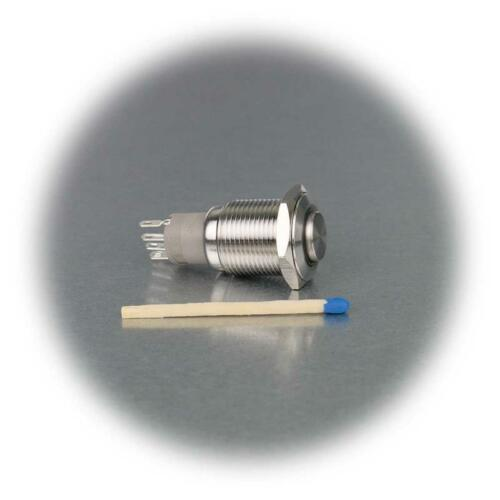 Taster Edelstahl IP67 Klingeltaster 16mm mit Ringbeleuchtung Metalltaster