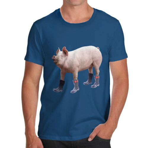 Twisted Envy Men/'s Pig In Boots Cotton T-Shirt