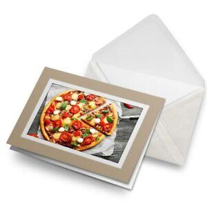 Greetings-Card-Biege-Tasty-Pizza-Italian-Food-Traditional-24030