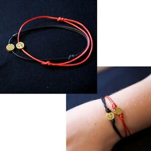 f9b4f70fa8b37 Details about Zuzu Lucky Black Red String Rope Gold St Benedict Charm  Bracelet Jewellery Gift