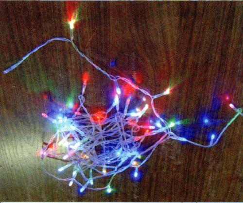 LED Lichterkette 1,0 m bunt 20 LED`s  2-er Set zum Basteln