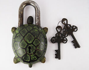 Vintage Tibet Buddhist Style Turtle Tortuoise Brass Puzzle ...