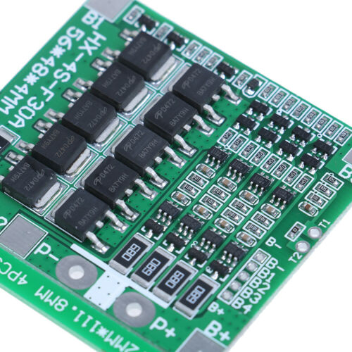 4S 30A 14.8V Li-ion Lithium Battery BMS PCB Protection Board Cell Balance.W KQ