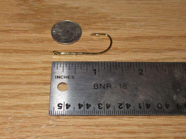 100 GOLD 2 SLICE STRAIGHT EYE BAITHOLDER BEAK HOOKS SIZE 5//0 BULK FISHING HOOK