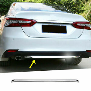 For-Toyota-Camry-LE-XLE-2018-2019-Chrome-Trim-Rear-Bumper-Lower-Lip-Cover