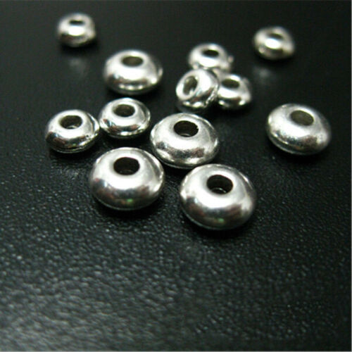 Wholesale 100Pcs Silver Stainless Steel Round Spacer Beads DIY Jewelry Making