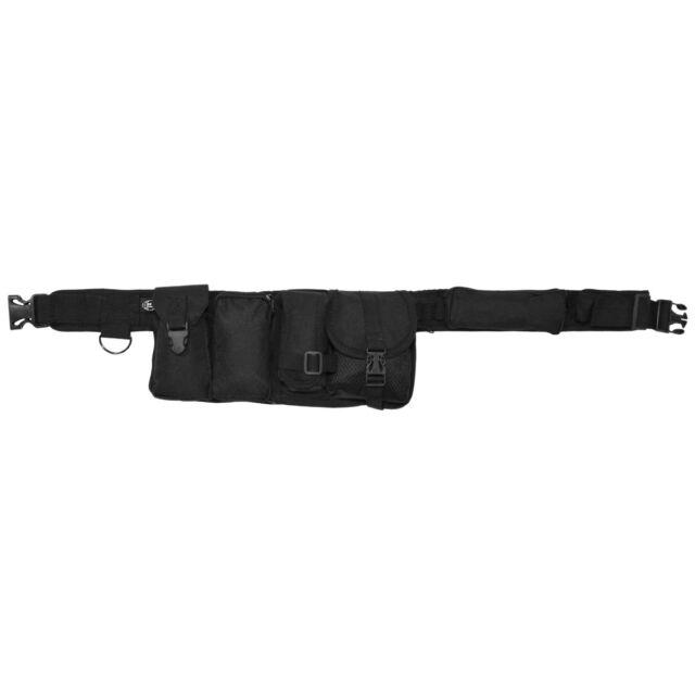 MFH SECURITY TACTICAL TRAVEL MENS SHOULDER BAG UTILITY BELT PACK 6 POCKETS BLACK