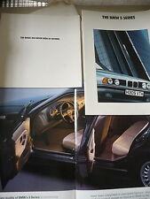 Car brochures x 3 BMW 1990 & 1993 5 series diesel