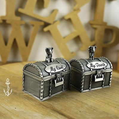 Twin/2 Per Pack Pair Baby Tooth Fairy Curl Hair Pirate Box Container Rrp$48.99 Harmonious Colors Keepsakes Keepsakes, Memory Books
