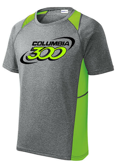 Columbia 300 Men's Bully Bowling Crew Performance Shirt Heather Lime Green