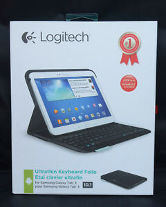 "Computers/tablets & Networking Earnest Logitech Ultrathin Keyboard Folio For 10.1"" Samsung Galaxy Tab 3 New In Open Box Graphics Tablets/boards & Pens"