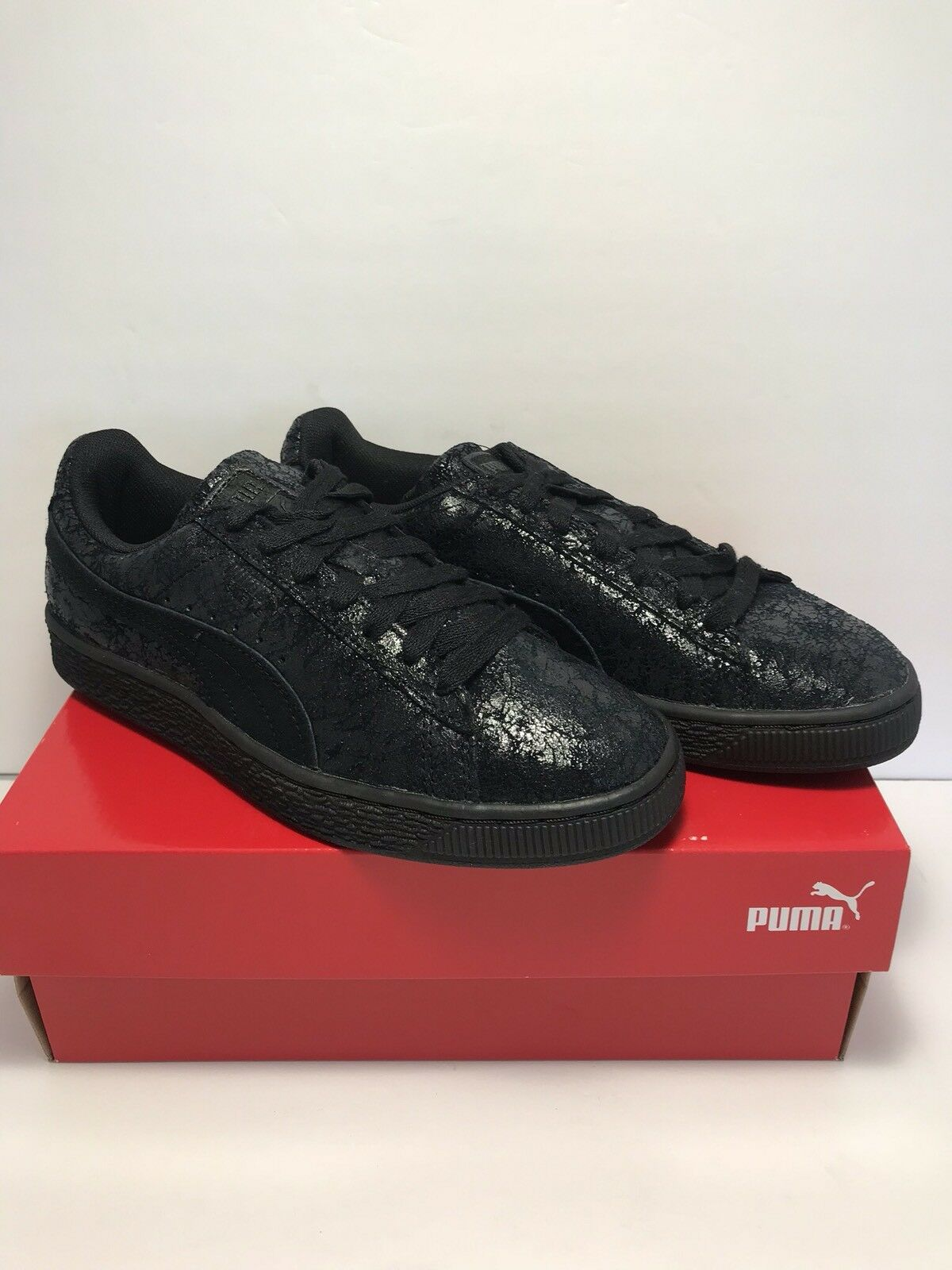 Puma Womens Size 9.5 Sneakers Suede Remaster Blavk Casual Sneakers 9.5 Shoes fa1b21