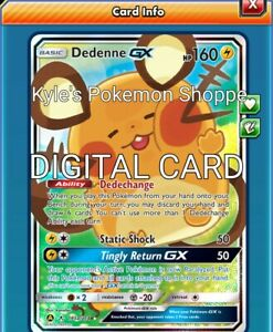 Dedenne GX 57//214 for Pokemon TCG Online PTCGO Digital Card