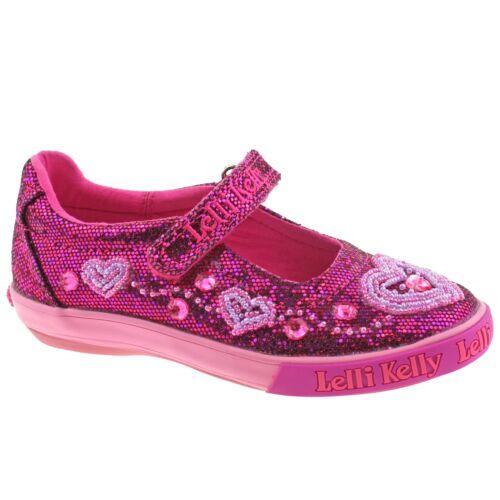 Lelli Kelly LK3020 Purple Glitter Ava Dolly Shoes GW01