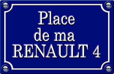 Badges, Insignes, Mascottes Aspiring Place De Ma Renault 4-29cm Autocollant Sticker Auto Pr021