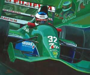 Art-Card-1991-Belgian-Grand-Prix-Michael-Schumacher-039-s-Debut-Toon-Nagtegaal-OE