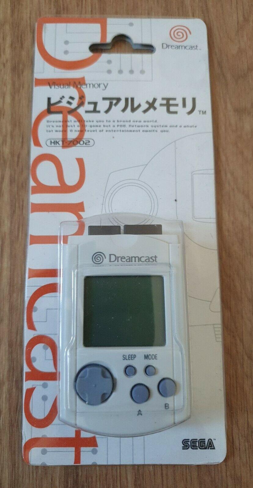SEGA Dreamcast HTK-7002 White Visual Memory Unit VMU DC Boxed Japan
