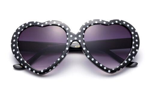Cute Kids Sunglasses Polka Dots Heart Shaped Birthday Party FDA Approved UV 100/%