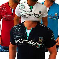 ZAHIDA Herren T-Shirts Shirt Clubwear V-Neck Designer Polo Top T-Shirt Wow NEU