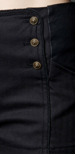 Lip Service Goth Steampunk Sideshow Cotton Herrington Shorts Black OR Blue