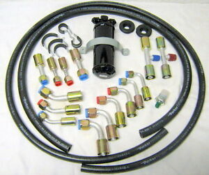UNIVERSAL-A-C-HOSE-KIT-FOR-RAT-HOT-ROD-MUSCLE-CAR-FLARE-FITTINGS-amp-DRIER