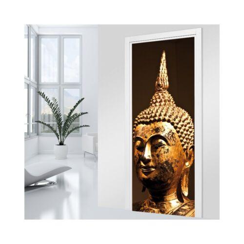 PORTE-1 Bouddha Or PRIX SPÉCIAL NON MERCI Ref Autocollant Stickers Porte