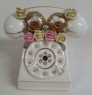 Design Vintage Bank.Ceramic Coin Bank Old Style Telephone Design Vintage Ebay