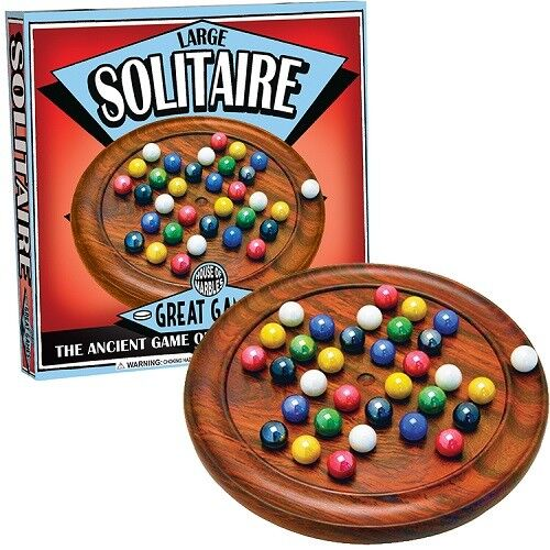 Deluxe large wooden solitaire set supplied by House of Marbles