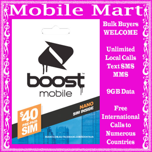 Boost Mobile Prepaid Sim Card Nano 4g Compatible Up To 9gb Ebay