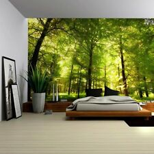 Crowded Forest Mural - Wall Mural, Removable Sticker, Home Decor - 66x96 inches