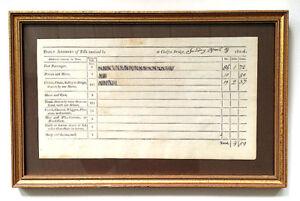 Original-Framed-Document-1804-CHELSEA-MASSACHUSETTS-TOLL-BRIDGE-Daily-Receipts