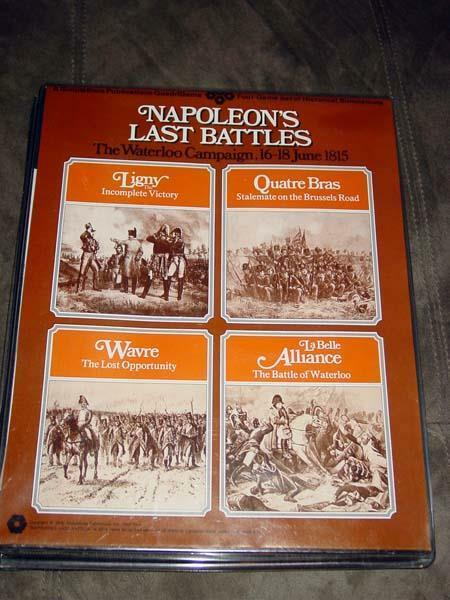 SPI  Simulations Publications - NAPOLEON at WAR game   four  Battles (UNP)
