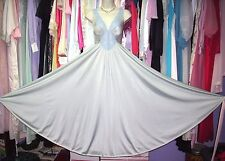 VTG OLGA Vintage SAGE GREEN Retro Spandex MEGA SWEEP Nightgown Lingerie sz S M L