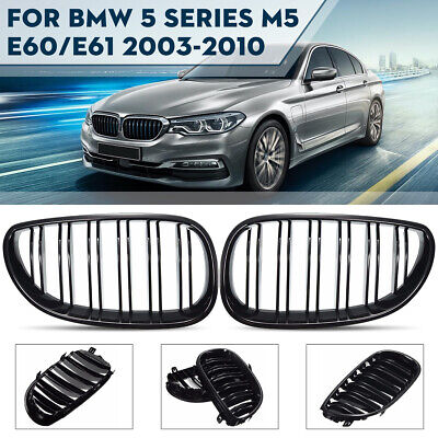 BMW 5 SERIES E39  NEW GRILLE KIDNEY BLACK TUNING BLACK LEFT /& RIGHT SIDE