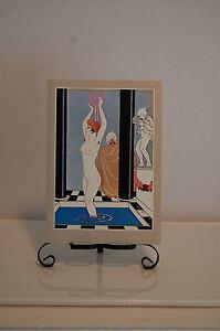 GEORGES-BARBIER-LA-VASQUE-REPRODUCTION-HOLLAND-1977-NOTE-CARD