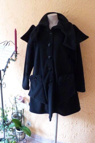 Schal Schwarz 48 Industries Edel Eg Mantel Fleece kragen 50 Lagenlook Boris Neu nqT1WCxW