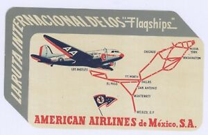 America West Airlines Luggage ID Tag Embroidered Classic Repro AW Mountain Logo