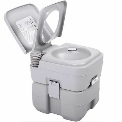 20L Mobile Camping Toilet Portable Travel Chemical WC Outdoor Handle Grey