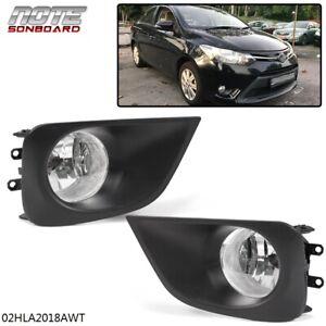For Toyota Vios Yaris Sedan 2013 2014 2015 2016 2017 Bumper Fog Lamp Assembly Ebay