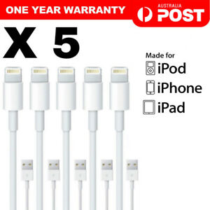 5x HQ Apple Lightning Data Cable Charger for iPhone X 8 8 Plus 7 6 5s iPad