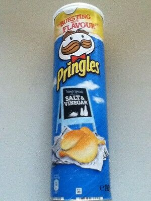 190gram TUBE OF PRINGLES SALT & VINEGAR - BRITISH CRISPS - WILL SHIP WORLDWIDE