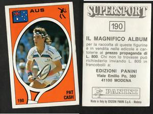 Pat-Cash-Australia-Tennis-Supersport-1988-Edizioni-Panini-MINT-n-190