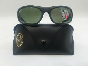 02ed2a41f7 RAY BAN RB 4033 601-S 48 MATTE BLACK POLARIZED SUNGLASSES MADE IN ...