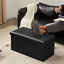 Large-Black-Leather-Ottoman-Storage-Box-Pouffe-Toy-Free-Next-Day-UK-Delivery thumbnail 3