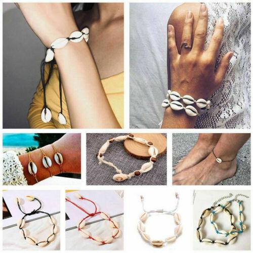 Women Boho Shell Bracelet Cowrie Summer Beach Sandal Anklet Fashion Jewelry Gift